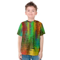 Color Abstract Background Textures Kids  Cotton Tee