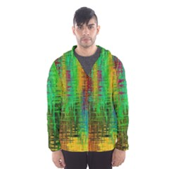 Color Abstract Background Textures Hooded Wind Breaker (men)
