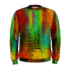Color Abstract Background Textures Men s Sweatshirt