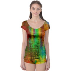 Color Abstract Background Textures Boyleg Leotard