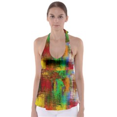 Color Abstract Background Textures Babydoll Tankini Top