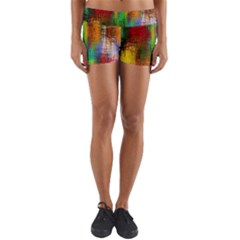 Color Abstract Background Textures Yoga Shorts