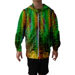 Color Abstract Background Textures Hooded Wind Breaker (kids)