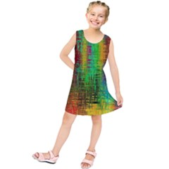 Color Abstract Background Textures Kids  Tunic Dress