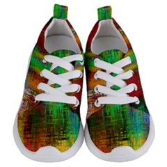 Color Abstract Background Textures Kids  Lightweight Sports Shoes