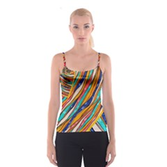 Fabric Texture Color Pattern Spaghetti Strap Top