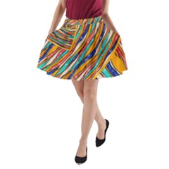 Fabric Texture Color Pattern A Line Pocket Skirt