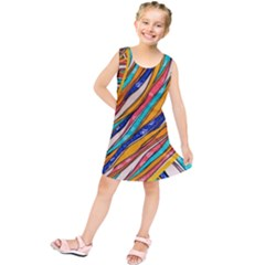 Fabric Texture Color Pattern Kids  Tunic Dress