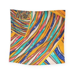Fabric Texture Color Pattern Square Tapestry (small)