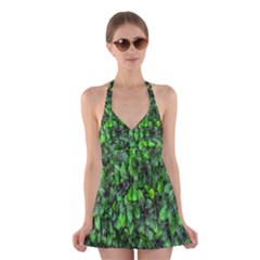 The Leaves Plants Hwalyeob Nature Halter Dress Swimsuit