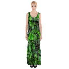 The Leaves Plants Hwalyeob Nature Maxi Thigh Split Dress