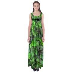The Leaves Plants Hwalyeob Nature Empire Waist Maxi Dress
