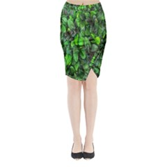 The Leaves Plants Hwalyeob Nature Midi Wrap Pencil Skirt by Nexatart