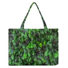 The Leaves Plants Hwalyeob Nature Zipper Medium Tote Bag by Nexatart