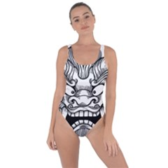 Japanese Onigawara Mask Devil Ghost Face Bring Sexy Back Swimsuit