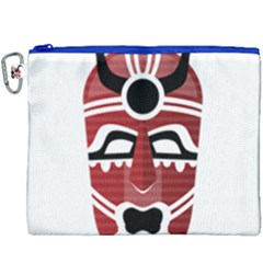 Africa Mask Face Hunter Jungle Devil Canvas Cosmetic Bag (xxxl) by Alisyart