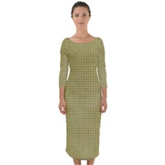 Background 1619142 1920 Quarter Sleeve Midi Bodycon Dress by vintage2030
