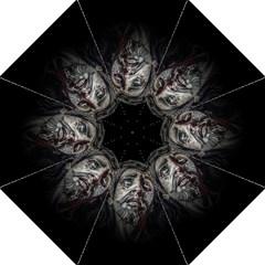 Jesuschrist Face Dark Poster Golf Umbrellas by dflcprints