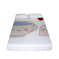 Cute Tea Fitted Sheet (full/ Double Size) by Valentinaart