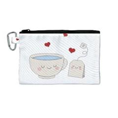 Cute Tea Canvas Cosmetic Bag (medium) by Valentinaart
