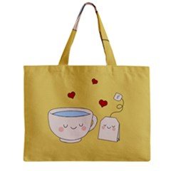 Cute Tea Zipper Mini Tote Bag by Valentinaart