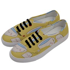 Cute Tea Men s Classic Low Top Sneakers by Valentinaart