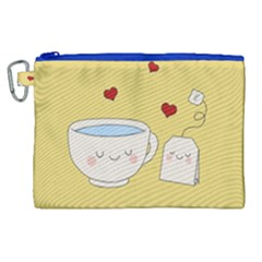 Cute Tea Canvas Cosmetic Bag (xl) by Valentinaart