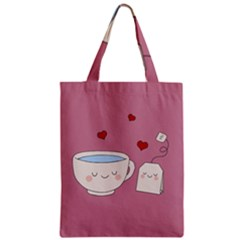 Cute Tea Zipper Classic Tote Bag by Valentinaart