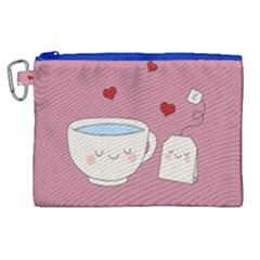 Cute Tea Canvas Cosmetic Bag (xl) by Valentinaart
