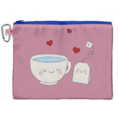 Cute Tea Canvas Cosmetic Bag (xxl) by Valentinaart