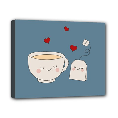 Cute Tea Canvas 10  X 8  by Valentinaart