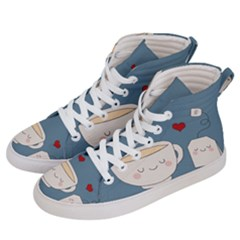 Cute Tea Women s Hi Top Skate Sneakers by Valentinaart