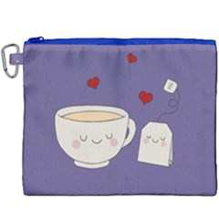 Cute Tea Canvas Cosmetic Bag (xxxl) by Valentinaart