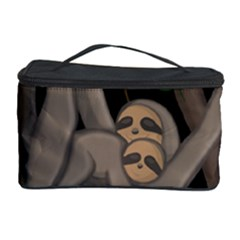 Cute Sloth Cosmetic Storage Case by Valentinaart