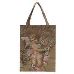 Cupid   Vintage Classic Tote Bag by Valentinaart