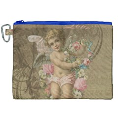 Cupid   Vintage Canvas Cosmetic Bag (xxl) by Valentinaart