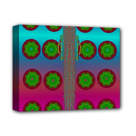 Meditative Abstract Temple Of Love And Meditation Deluxe Canvas 14  X 11  by pepitasart