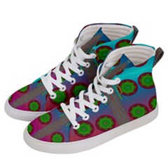Meditative Abstract Temple Of Love And Meditation Men s Hi Top Skate Sneakers by pepitasart