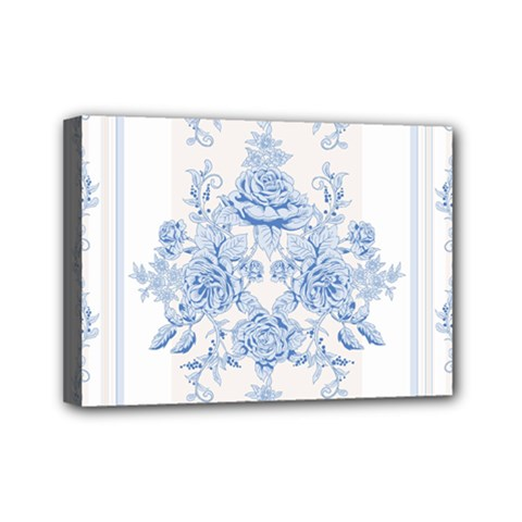 Beautiful,pale Blue,floral,shabby Chic,pattern Mini Canvas 7  X 5  by 8fugoso
