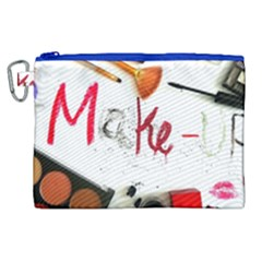 Makeup Canvas Cosmetic Bag (xl) by julissadesigns