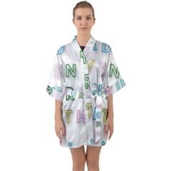 Adventure With Me Quarter Sleeve Kimono Robe by 8fugoso