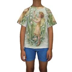 Fairy 1225819 1280 Kids  Short Sleeve Swimwear by vintage2030