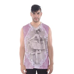 Lady 1112861 1280 Men s Basketball Tank Top by vintage2030