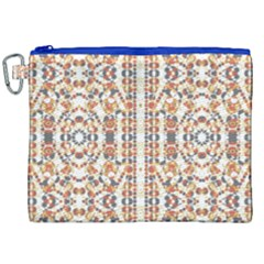 Multicolored Geometric Pattern  Canvas Cosmetic Bag (xxl) by dflcprints