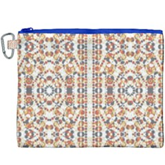 Multicolored Geometric Pattern  Canvas Cosmetic Bag (xxxl) by dflcprints