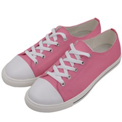 Pink 17 A | Light Pink Low Top Canvas Sneakers White Vamp White Laces White Eyelets by thefashionboutique