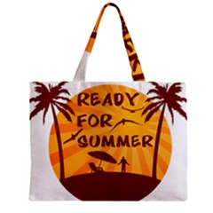 Ready For Summer Zipper Mini Tote Bag by Melcu