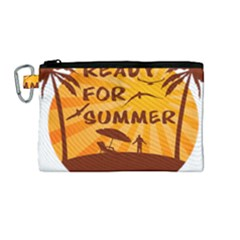 Ready For Summer Canvas Cosmetic Bag (medium) by Melcu