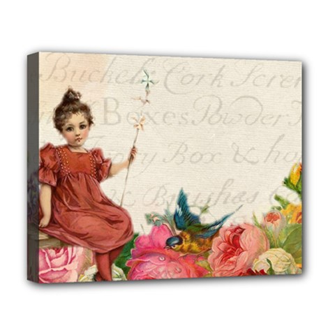 Girl 976108 1280 Deluxe Canvas 20  X 16   by vintage2030