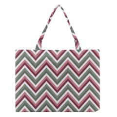 Chevron Blue Pink Medium Tote Bag by vintage2030